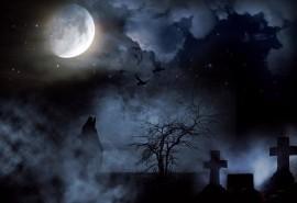 sennik Cmentarz nocą